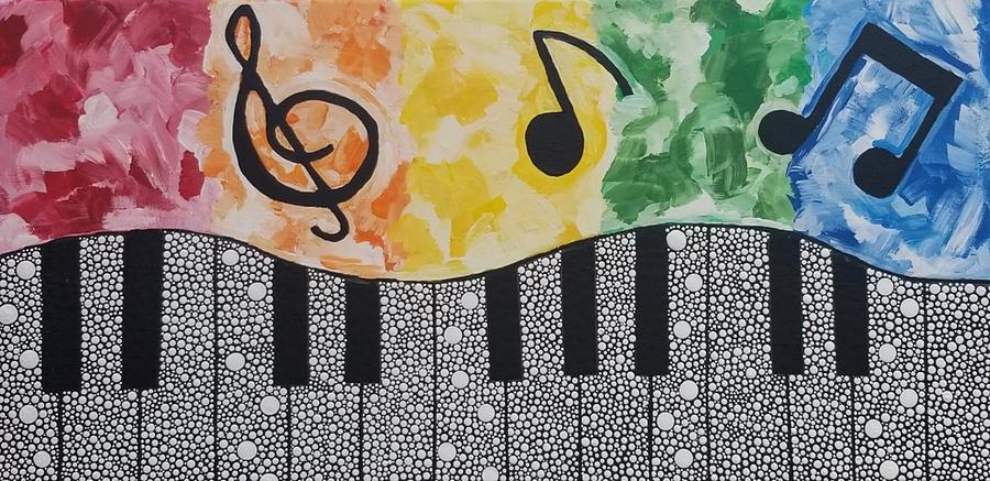 Rainbow Piano by KRISTIN MCDONNEL