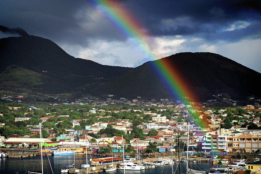 Rainbow Pot Of Gold in Basseterre, St. Kitts by Bill Swartwout Fine Art Photography