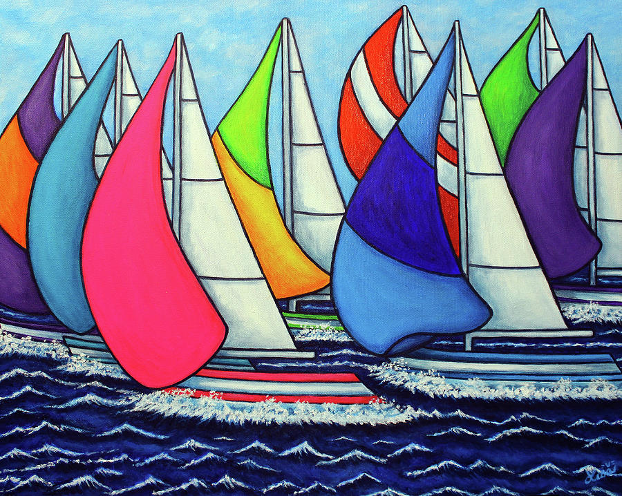 Rainbow Racing Regatta by Lisa Lorenz