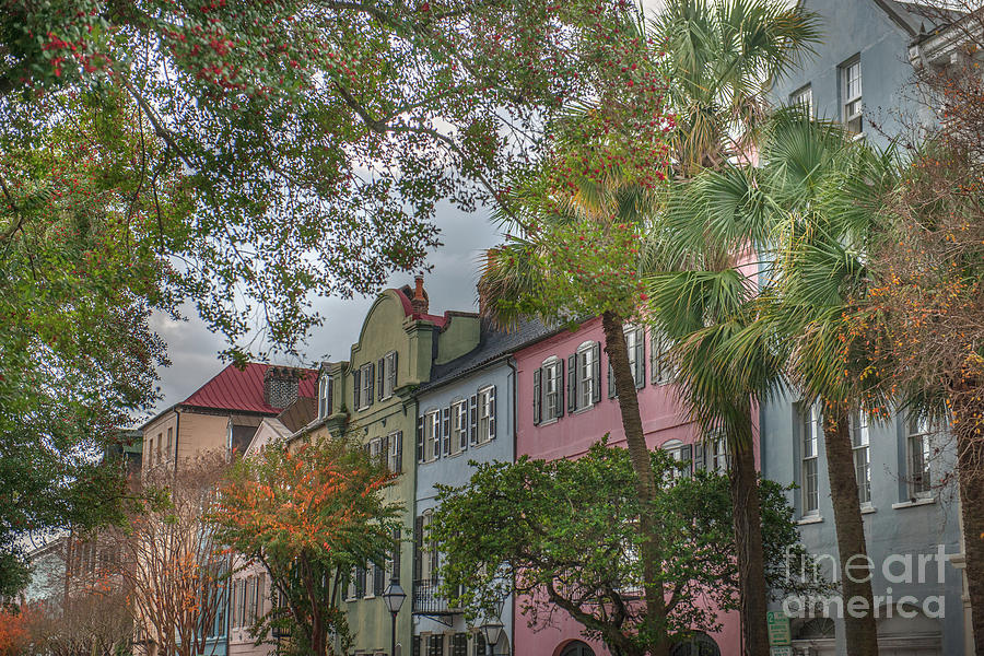 Rainbow Row Colorful Homes - Charleston South Carolina by Dale Powell