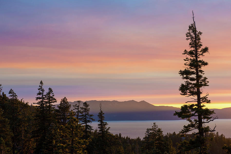 Rainbow Sunset - Lake Tahoe - Nevada Photograph