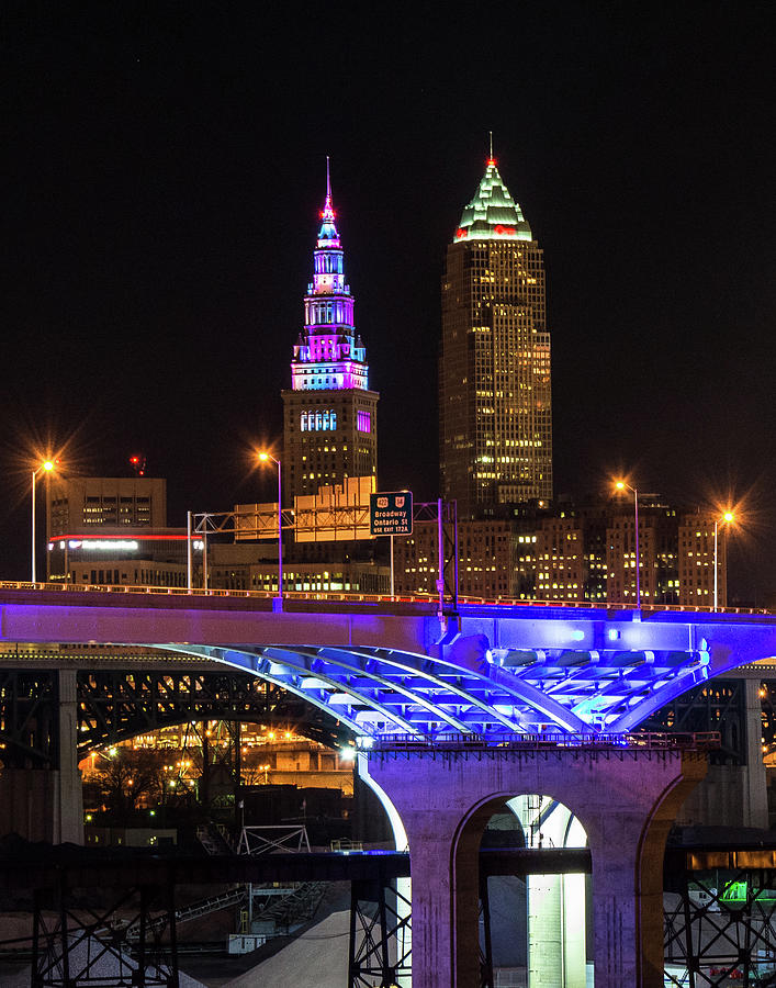 Rainbow Tower in Cleveland by Richard Kopchock