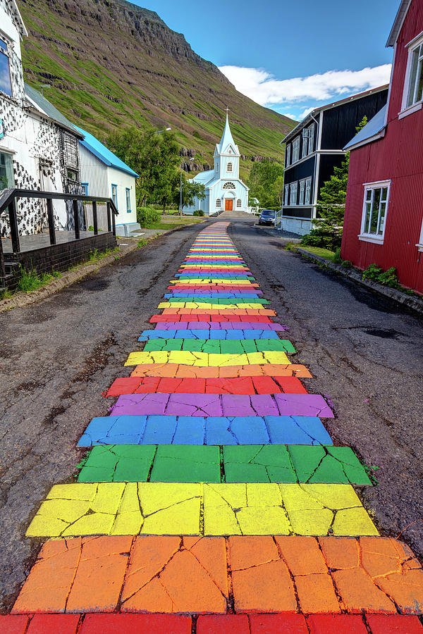 rainbow walkway of seydisfjordur by Pierre Leclerc Photography