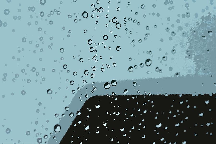 Raindrops 8 Abstract Digital Art