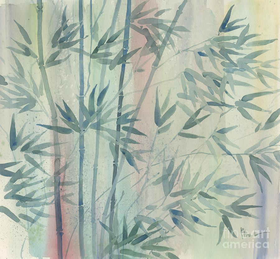 Watercolor Painting - Rainforest Bamboo by Paul Brent