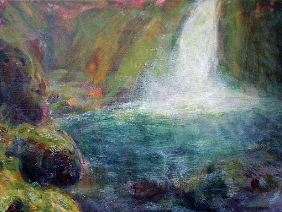 Almost Paradise large original impressionist painting on canvas  by Quin Sweetman