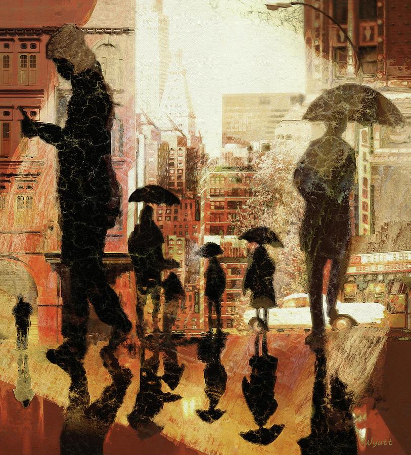 Rainy Day Digital Art - Rainy Afternoon by Regina Wyatt