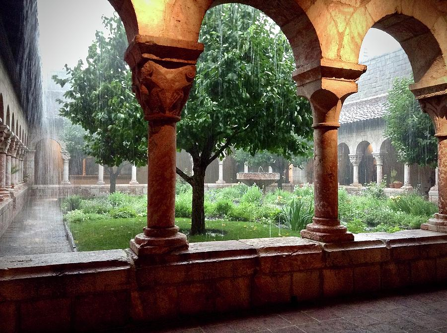 Rainy Day At The Cloisters by Sonja Jones