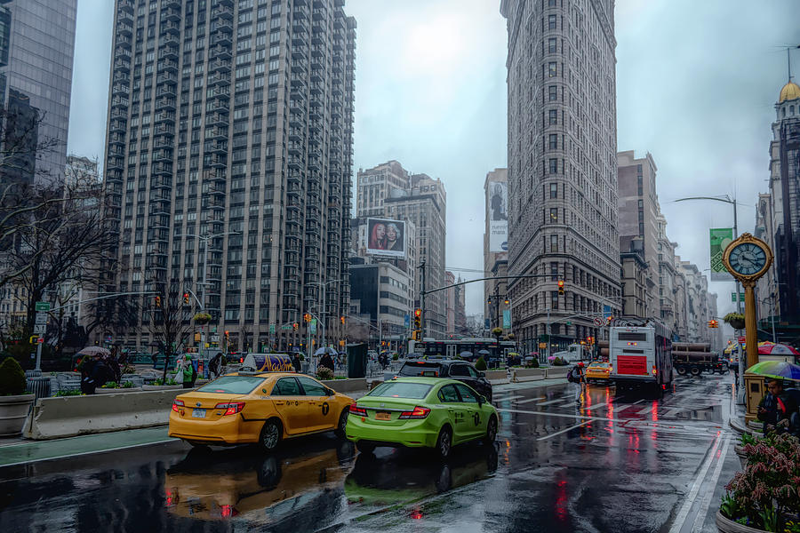 Rainy Day at the Flatiron District by Alison Frank