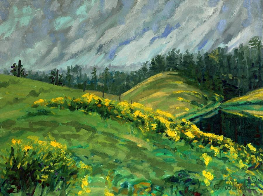 Rainy Day Golden Rod by Phil Chadwick