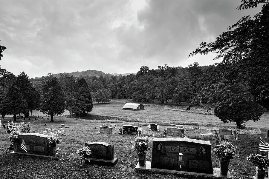 Rainy Day in Appalachian Mountain Cemetery by Philip Duff