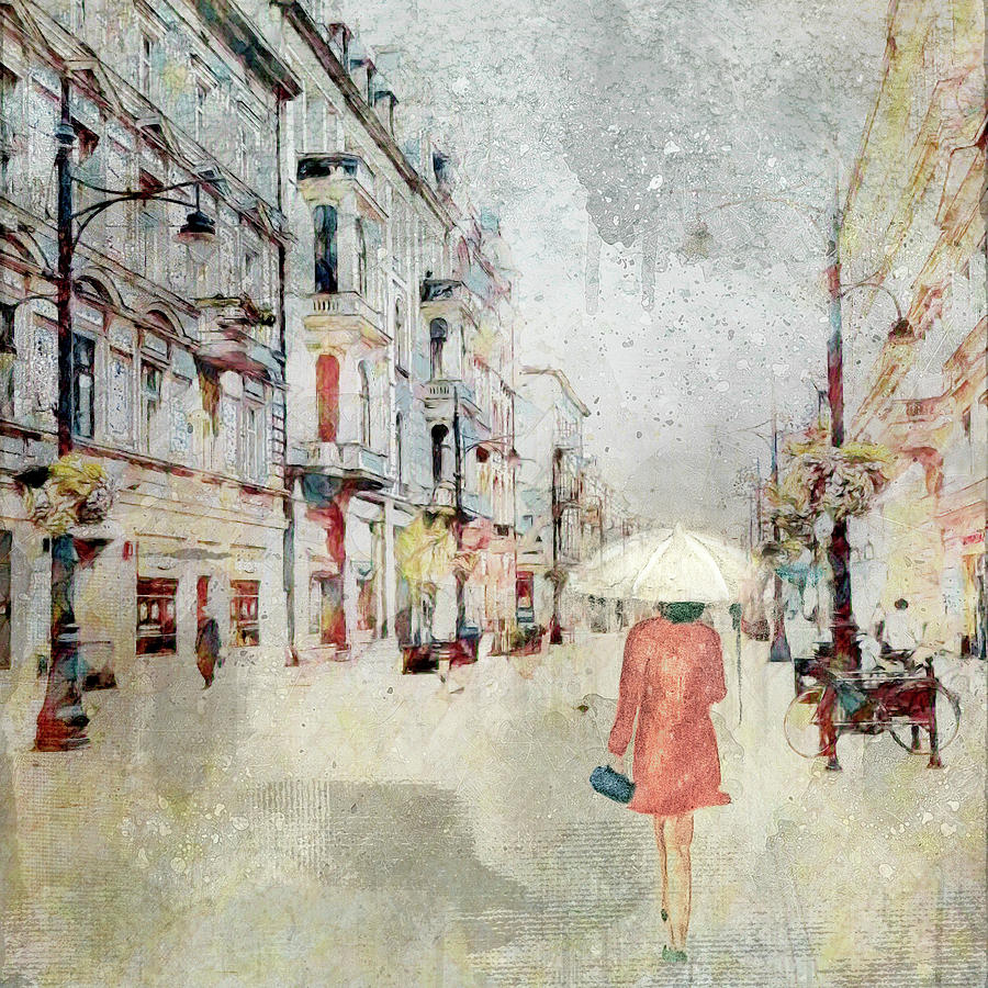 Rainy Day in the City by Marilyn Wilson