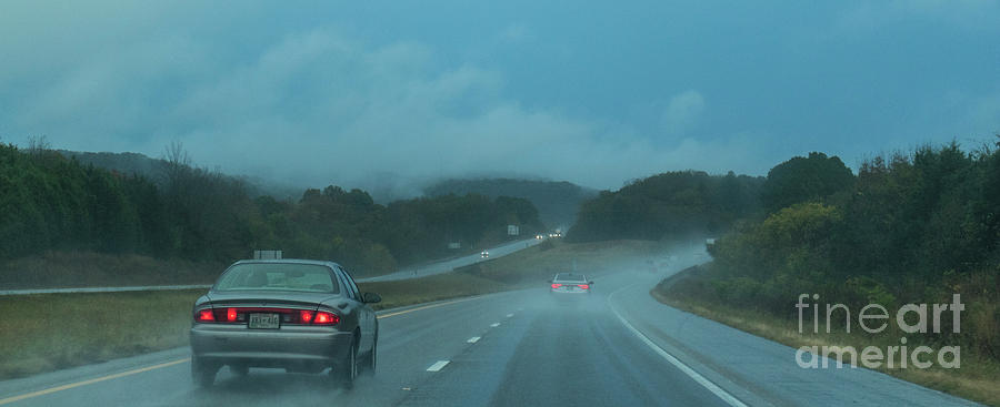 Rainy Day on I-40 by Garry McMichael