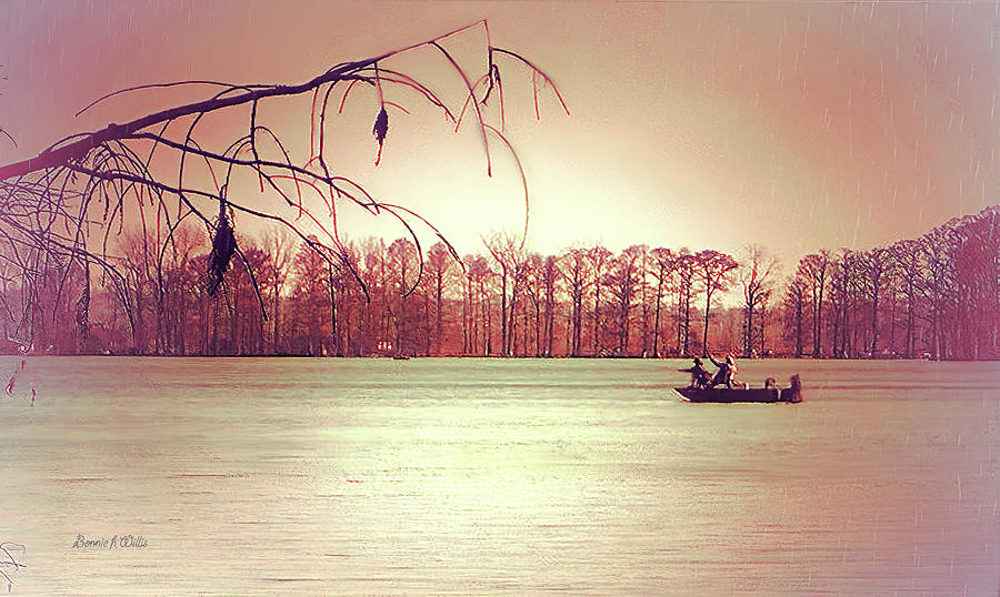 Rainy day on Reelfoot Lake by Bonnie Willis
