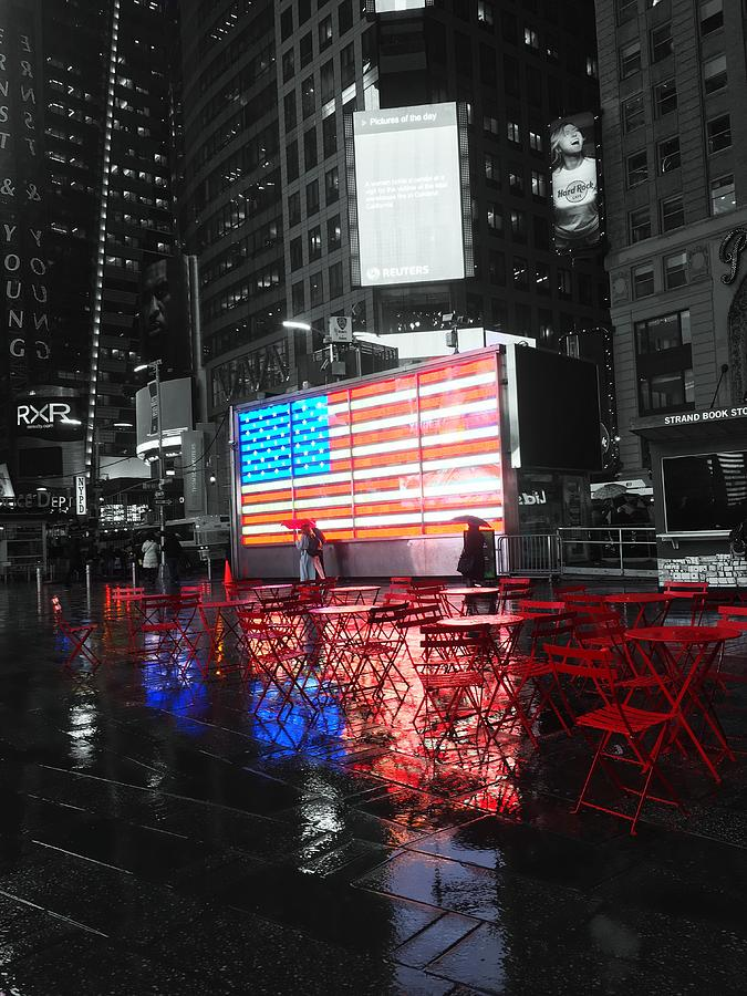 Rainy Days in Time Square  by Geraldine Gracia