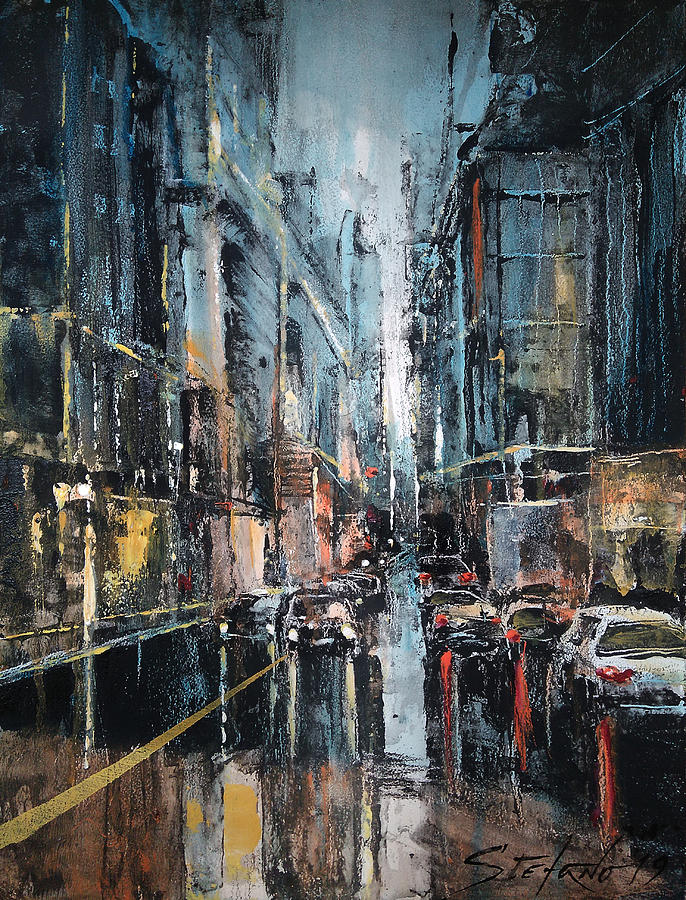 Rain Painting - Rainy Expression by Stefano Popovski