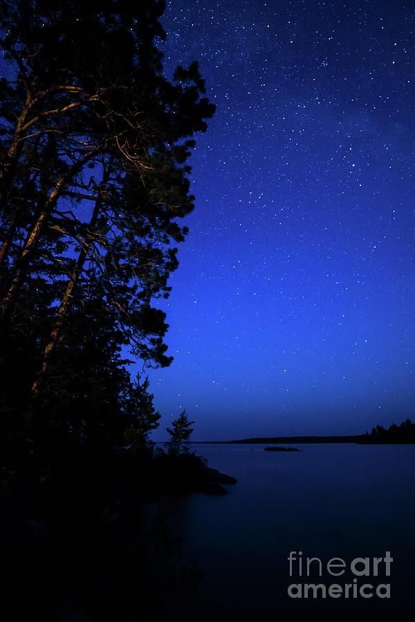 Rainy Lake Night by Lori Dobbs