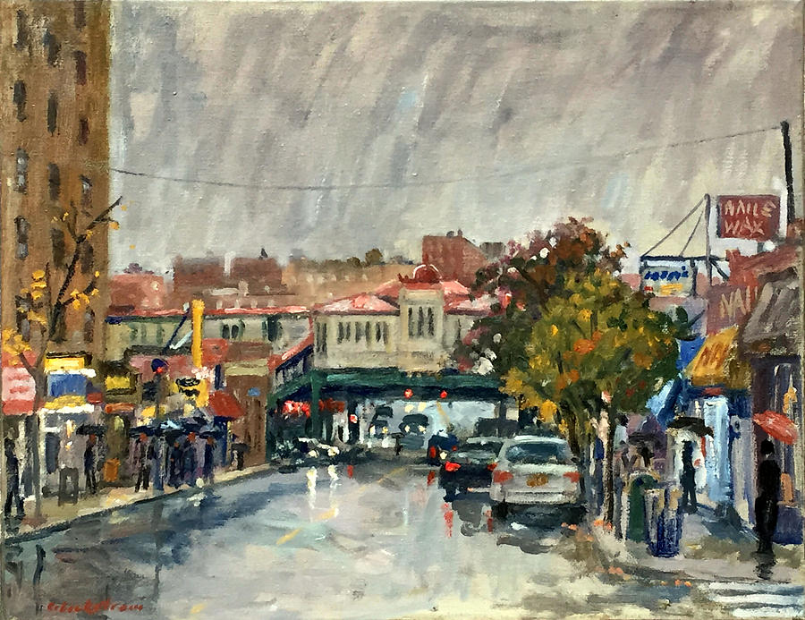 Rainy Morning 231st Street The Bronx by Thor Wickstrom