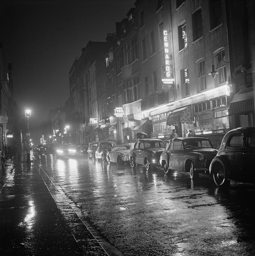 Rainy Night In Soho Photograph by Bips