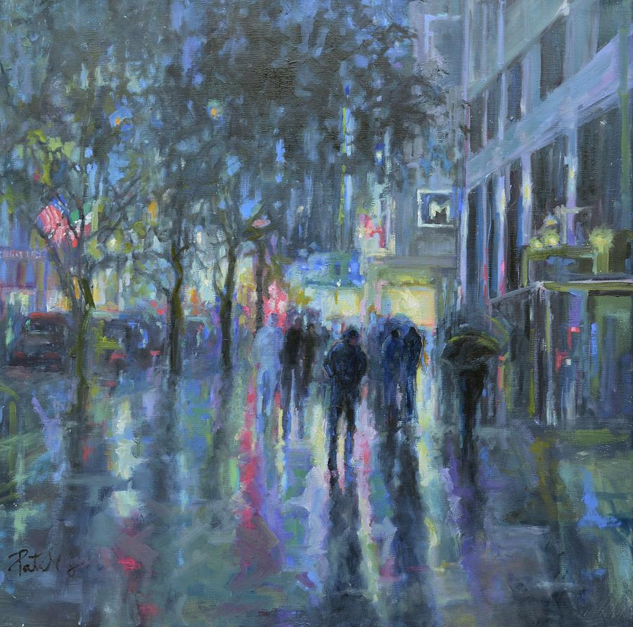 Rainy night in the city by Patricia Maguire