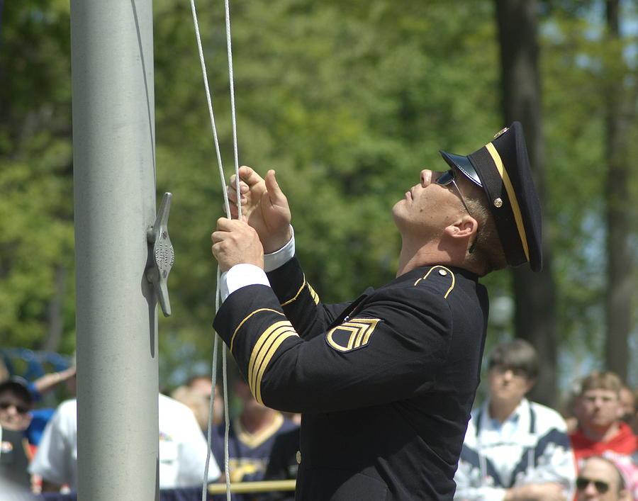 Raising The Flag Photograph