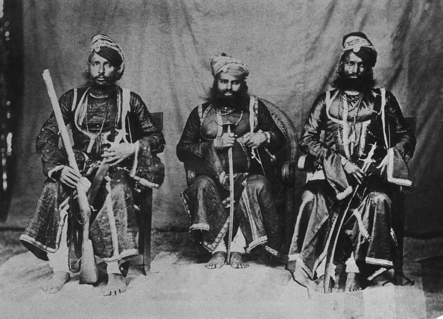 Rajput Warriors Photograph by Henry Guttmann Collection