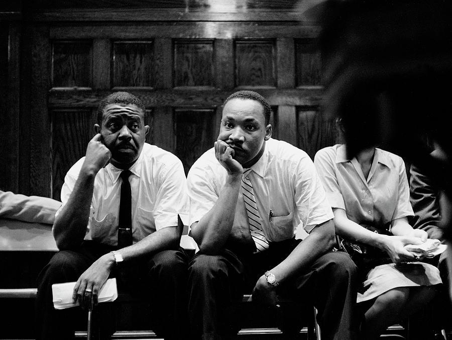 Ralph Abernathy And Martin Luther King Photograph by Paul Schutzer