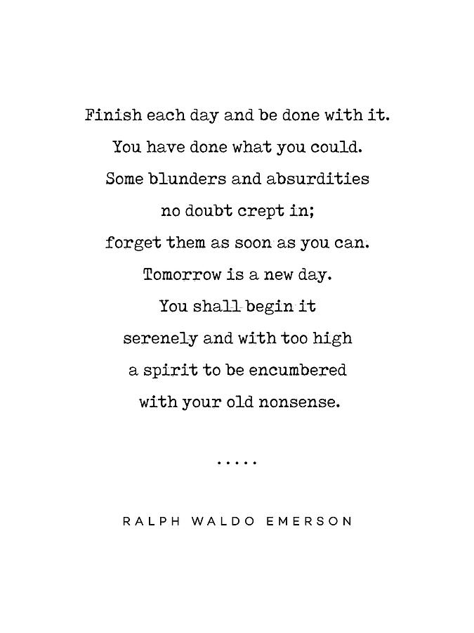 Ralph Waldo Emerson Quote 01 - Minimal, Sophisticated, Modern, Classy  Typewriter Print - Motivation