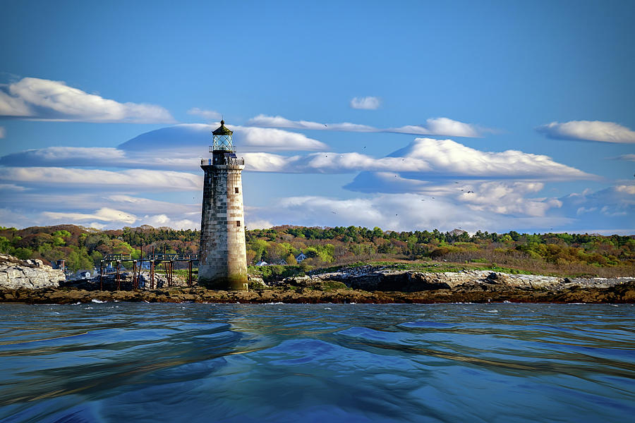 Ram Island Ledge Light on a Spring Morning by Rick Berk