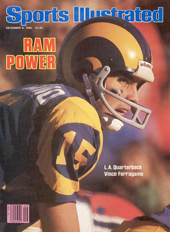 Ram Power L.a. Quarterback Vince Ferragamo Sports Illustrated Cover Photograph by Sports Illustrated
