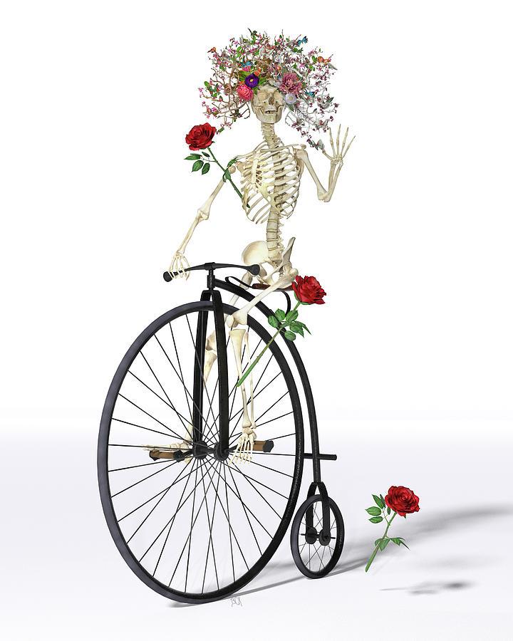 Skeleton Digital Art - Rambling Rosy  by Betsy Knapp