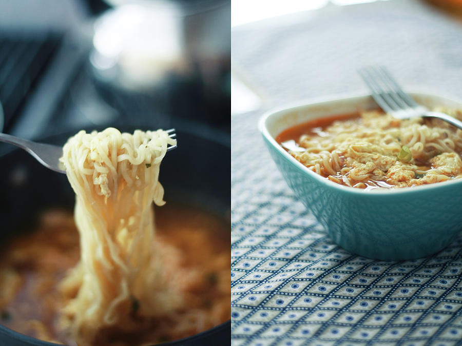 Ramen Noodles Diptych Photograph by Alice Gao Photography