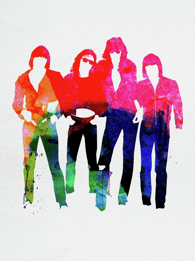 Ramones Mixed Media - Ramones Watercolor by Naxart Studio