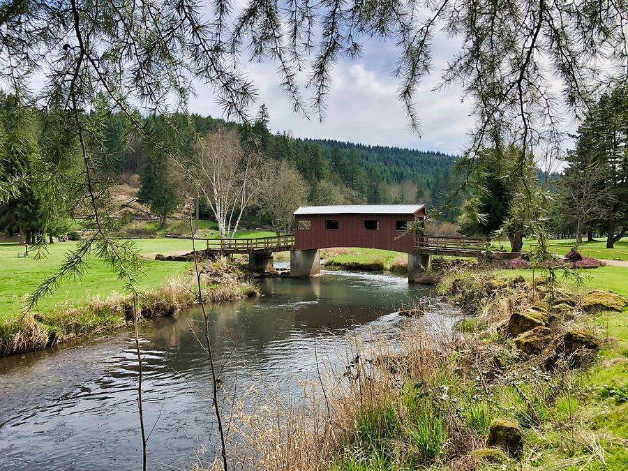 Covered Bridge Photograph - Ranch Hills Covered Bridge by Brian Eberly