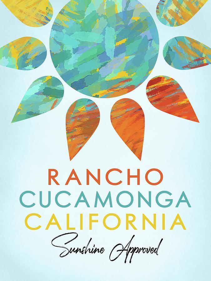 Rancho Cucamonga Digital Art - Rancho Cucamonga California Sunshine by Flo Karp