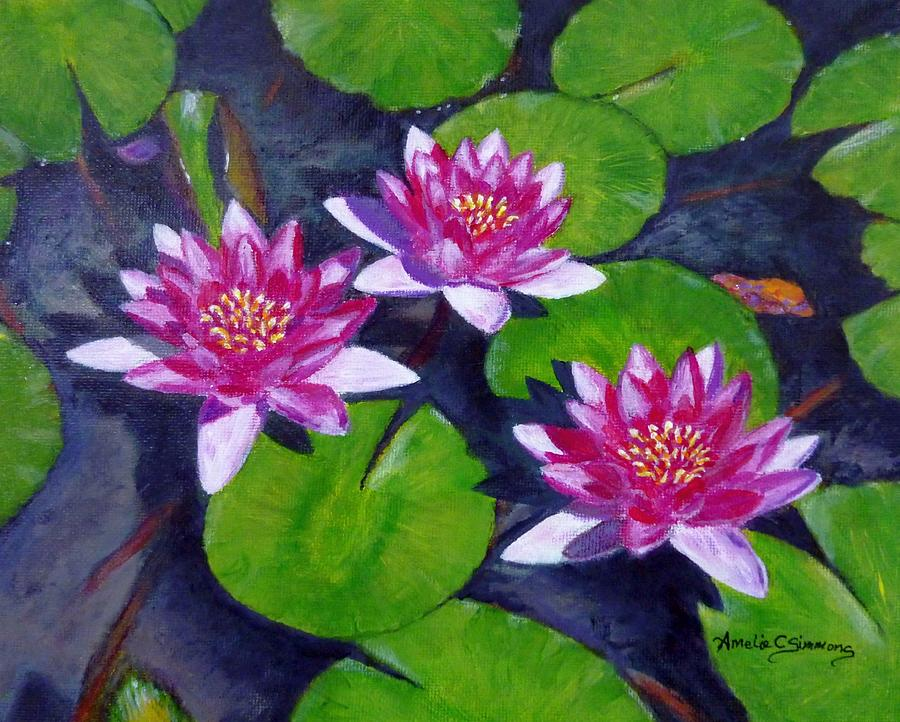 Rancho Water Lilies by Amelie Simmons