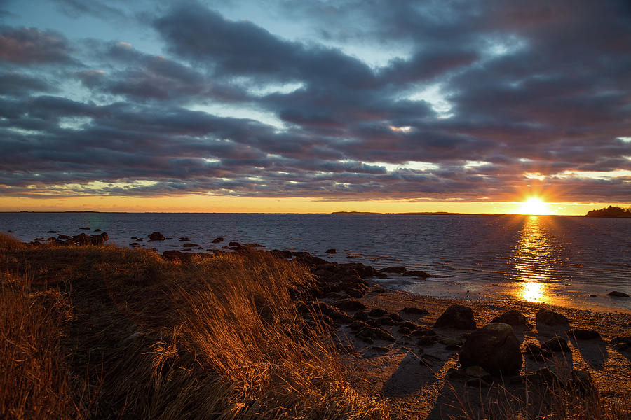 Randall Point Sunset at Barn Island - Stonington CT by Kirkodd Photography Of New England