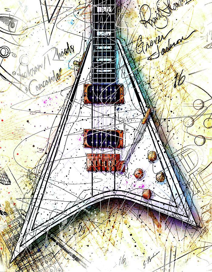 Randy Rhoads Digital Art - Randys Axe by Gary Bodnar