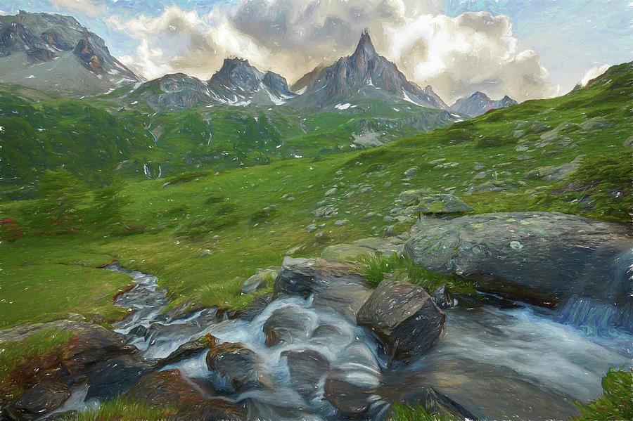 Courmayeur Digital Art - Range In The Claree Valley II by Jon Glaser