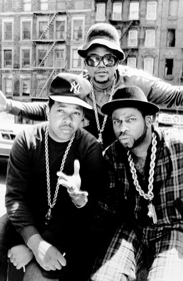 Rap Group Run Dmc Are L.-r. Dj Run Photograph by New York Daily News Archive