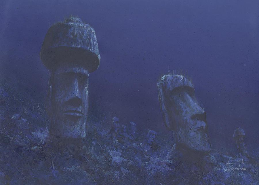 Rapa Nui Airbrush Digital Art