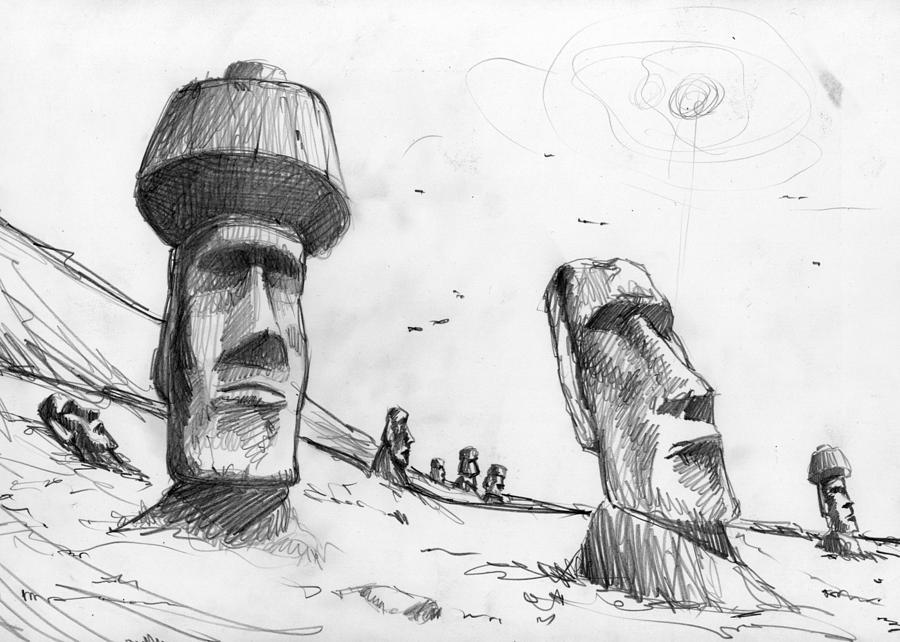 Rapa Nui Drawing Drawing