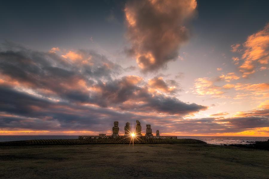 Rapa Nui Moai Photograph