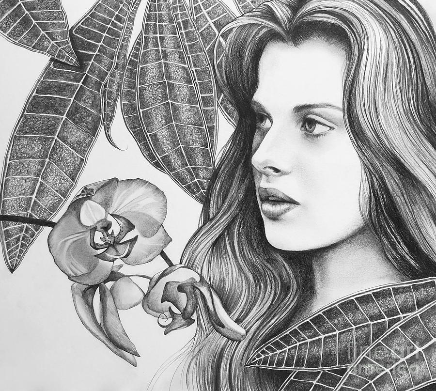 Nathaniel Hawthorne Drawing - Rappacinis Daughter by Hunter Jay