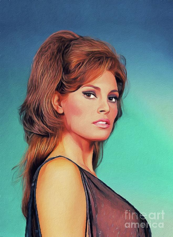 Raquel Welch, Vintage Actress Painting