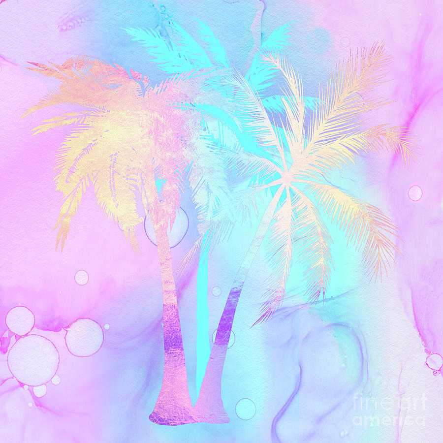 Rarefied Air II palm trees Tropical Atmospheric Art by Tina Lavoie