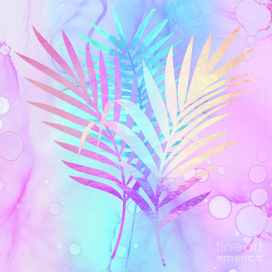 Rarefied Air vibrant palm fronds Atmospheric Art by Tina Lavoie
