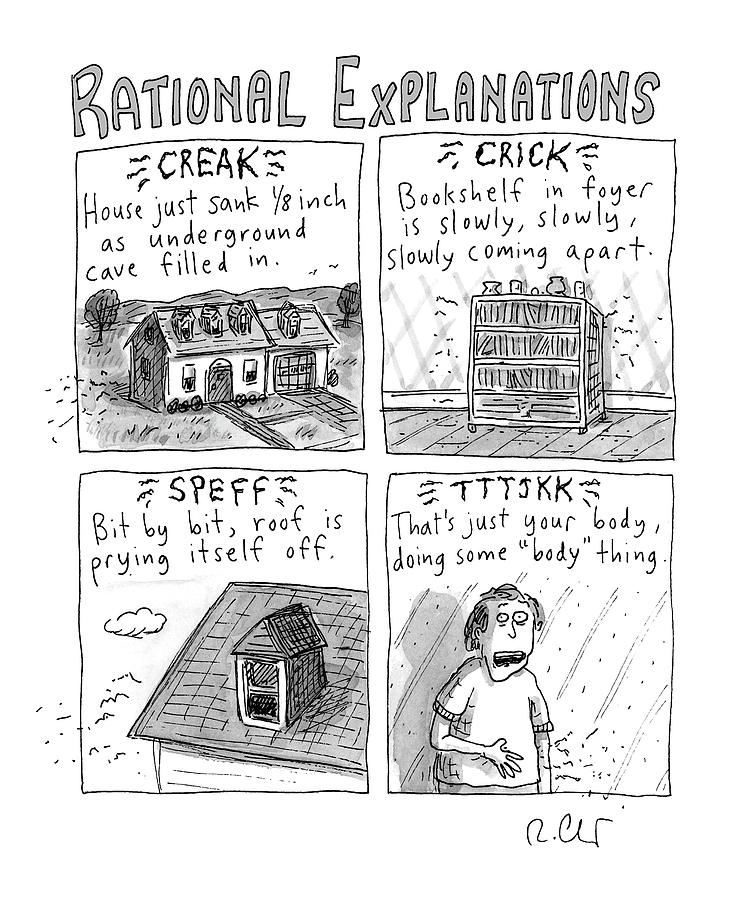 Rational Explanations Drawing by Roz Chast
