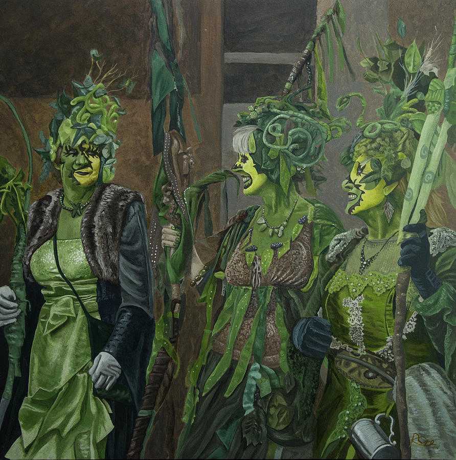Jack In The Green Painting - Rattlebag Hastings by Raymond Ore