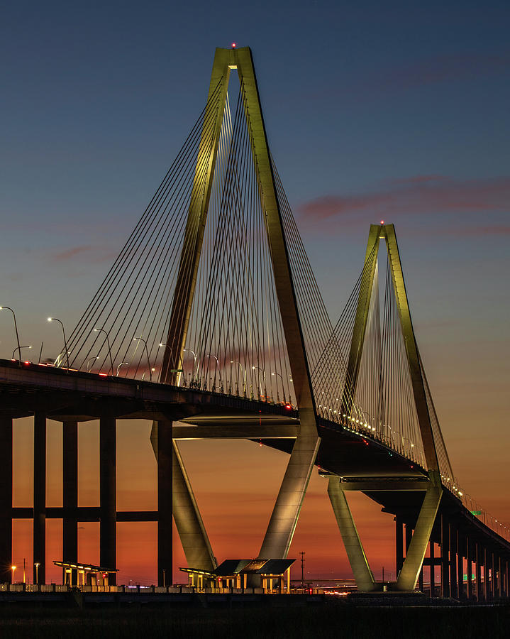 Ravenel Bridge Twilight  by Donnie Whitaker